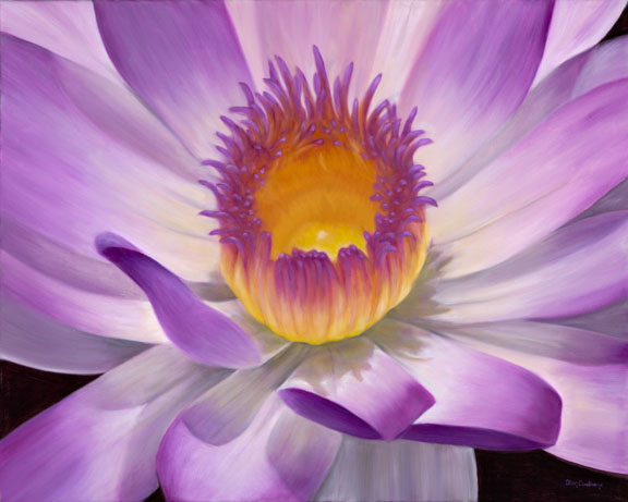 Inside the Waterlily Oil on Canvas